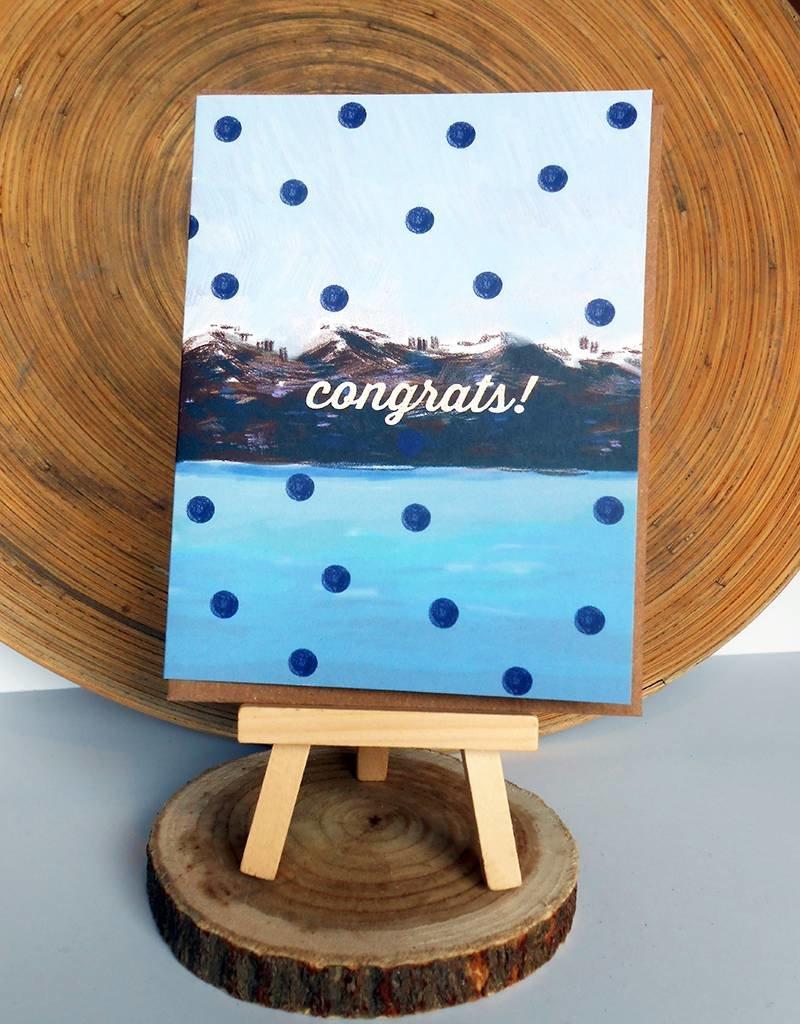 Ferme A Papier Polka Dot Moutain Congrats Card