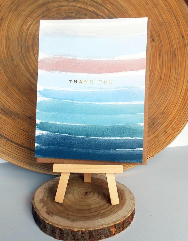 Ferme A Papier Foill Ocean Stripes Thank you Cards