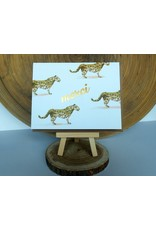 Ferme A Papier Foil 4 Leopard Print Merci Cards
