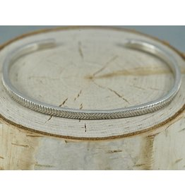 Sarah Swell Jewelry Feather Cuff Sterling Silver