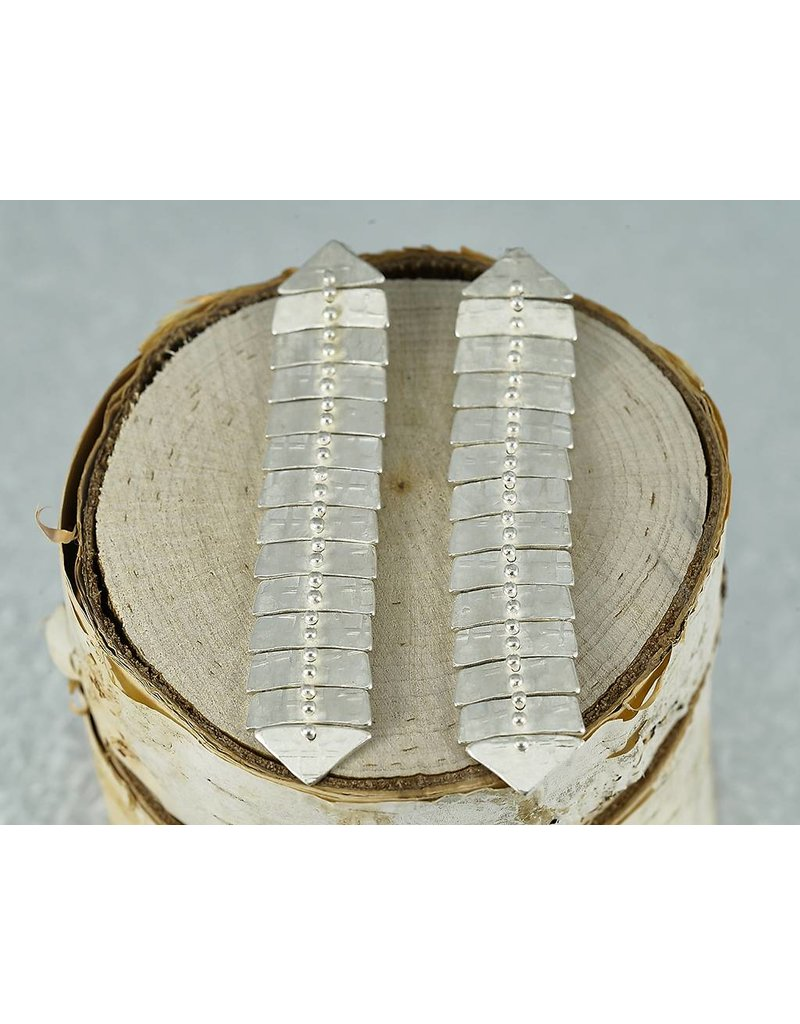 Sarah Swell Jewelry Fishbone Slim XL Studs Sterling Silver