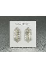Sarah Swell Jewelry Fishbone Mini 4 Bone Studs with 14k Gold