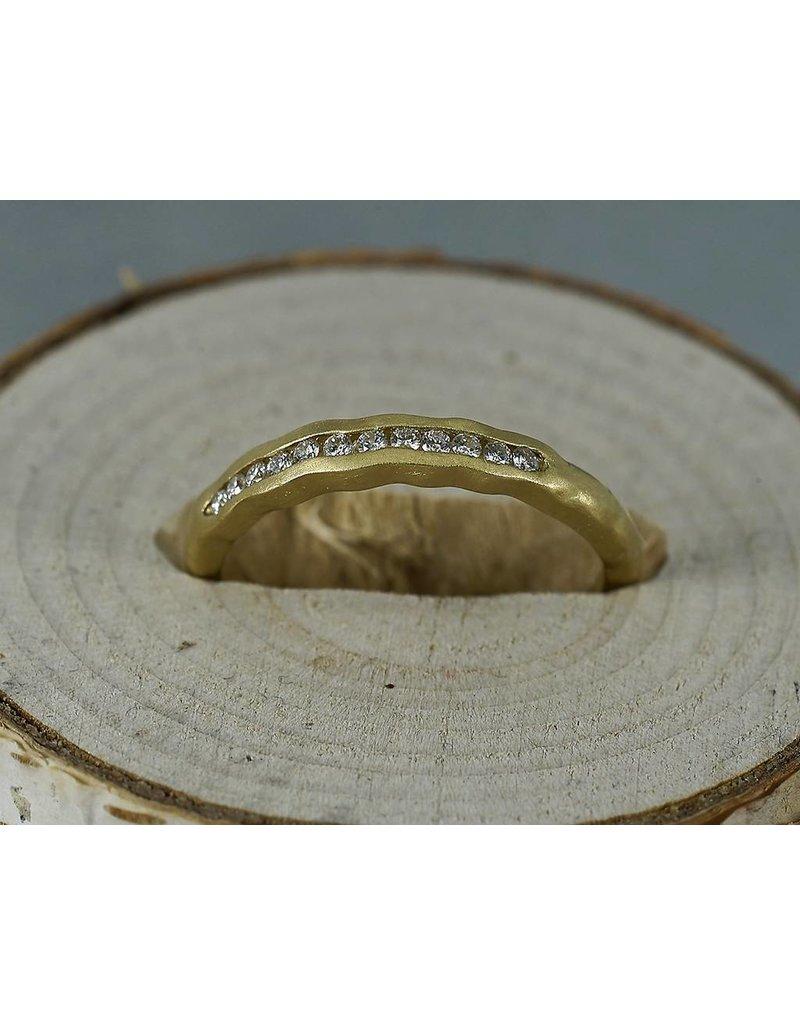 Sarah Swell Jewelry Bridal-Tidal Diamond Band-Size 6 18k Gold