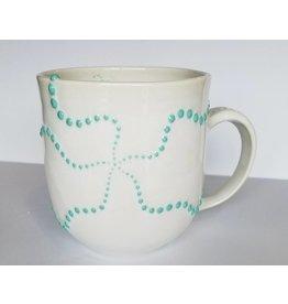 The Clay Cache Brittle Star Mug-Sea Green