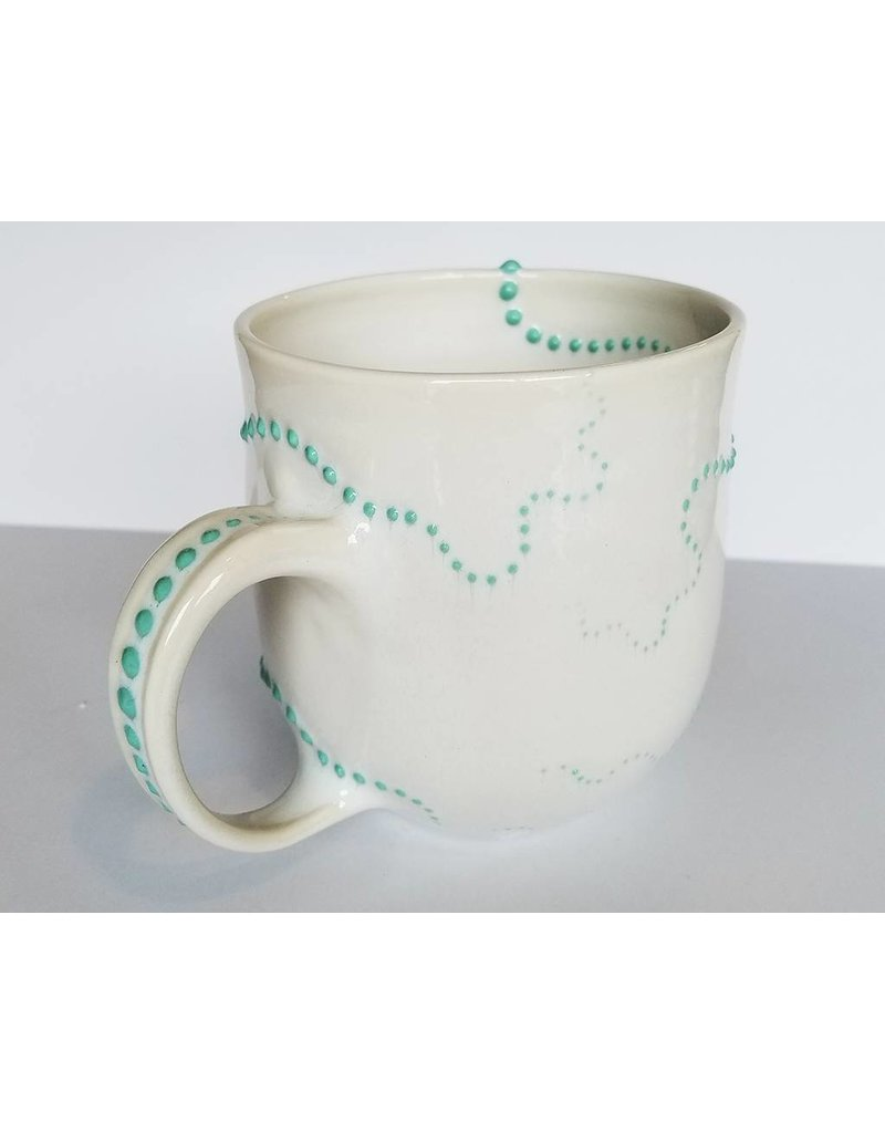 The Clay Cache Brittle Star Mug-Sea Green