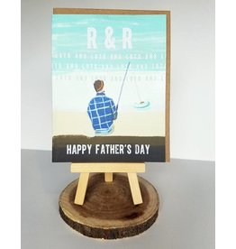 Ferme A Papier R&R Fishing Father's Day Card