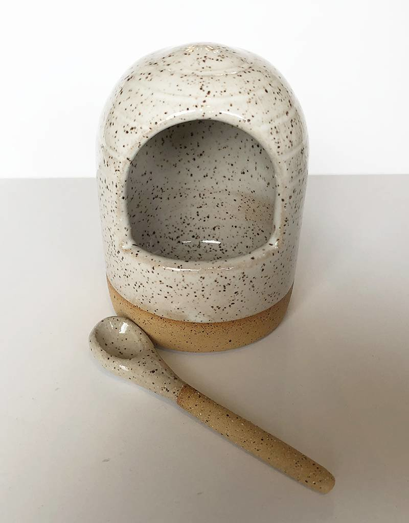 Gopi Shah Ceramics Salt Seller-Grey Brown