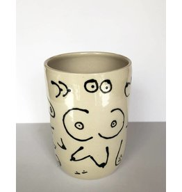 Gopi Shah Ceramics Tumbler-Boob Print