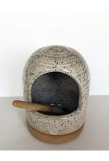 Gopi Shah Ceramics Salt Celler-Grey Brown
