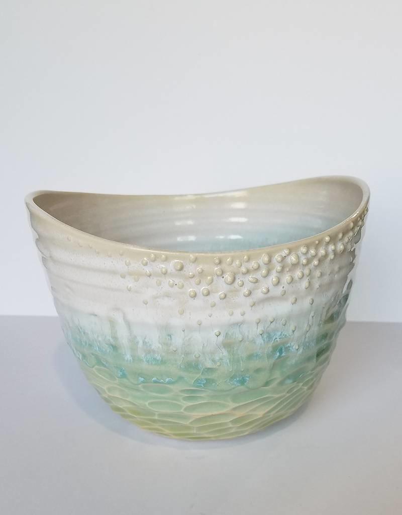 Unurth Ceramics Canyon Planter-Caribbean
