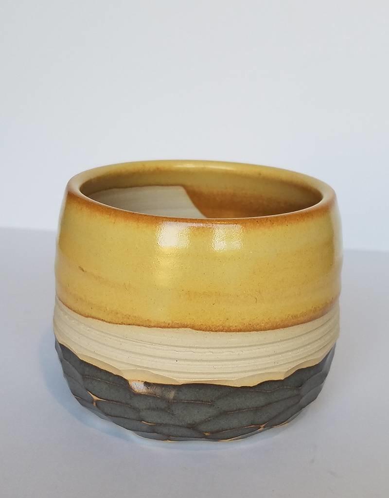 Unurth Ceramics Horizon Planter-Grey Shino White