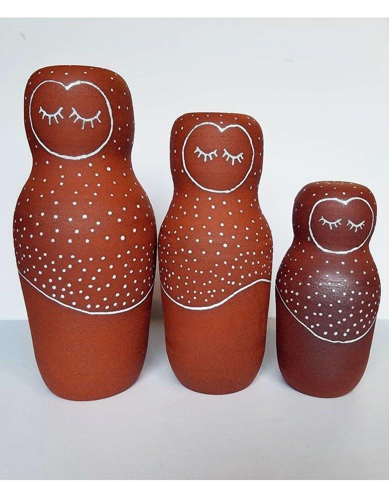 Gopi Shah Ceramics Clay Person-Snow