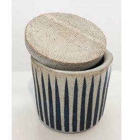 MQuan Studio Small Jar-Stripes Indigo
