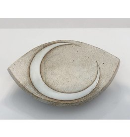 MQuan Studio Medium Eye Slab Dish-Crescent Glaze