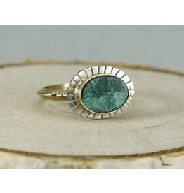 Young In The Mountains Equinox Ring-Chrysocolla 6 14kG