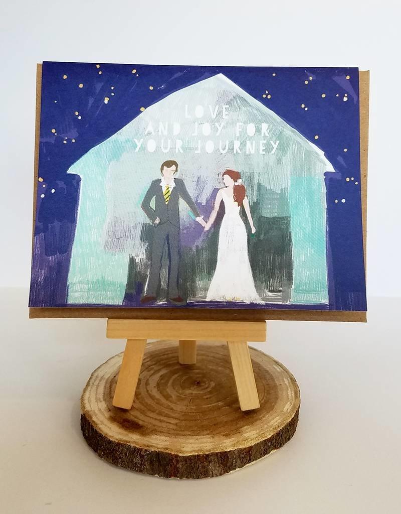 Ferme A Papier Folk Pattern Wedding Card