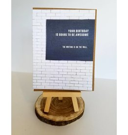 Ferme A Papier Writing On The Wall Birthday Card