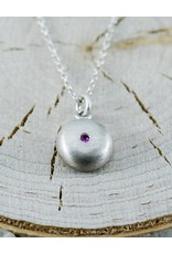Judi Powers Jewelry Pebble Necklace-Pink Sapphire
