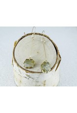 Nichole Shepherd Jewelry 14k Gold, Rough Beryl Lace Crystal Earrings