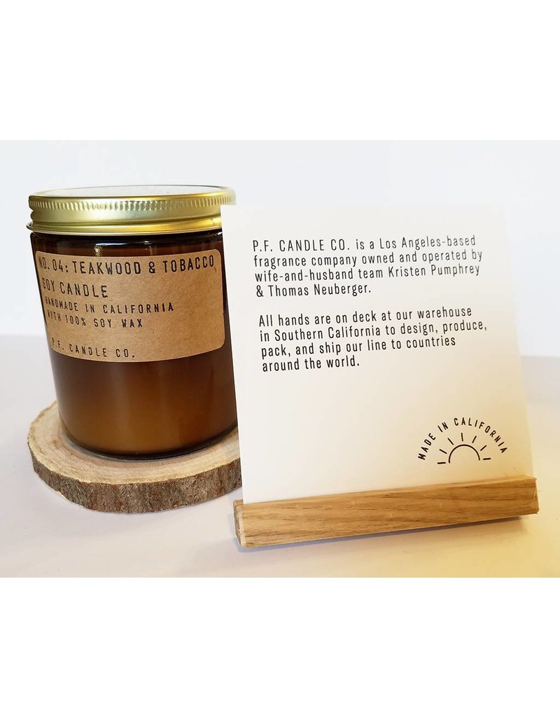 P.F Candle Co NO. 04 Teakwood & Tobacco Candle