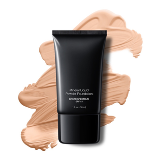 Foundation Pale Beige Liquid Mineral Powder Foundation