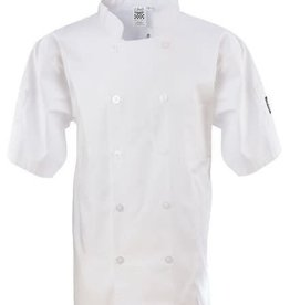 Chef Revival Chef Revival J105-XL Basic White Chef Jacket Double Breasted XLarge Short Sleeve