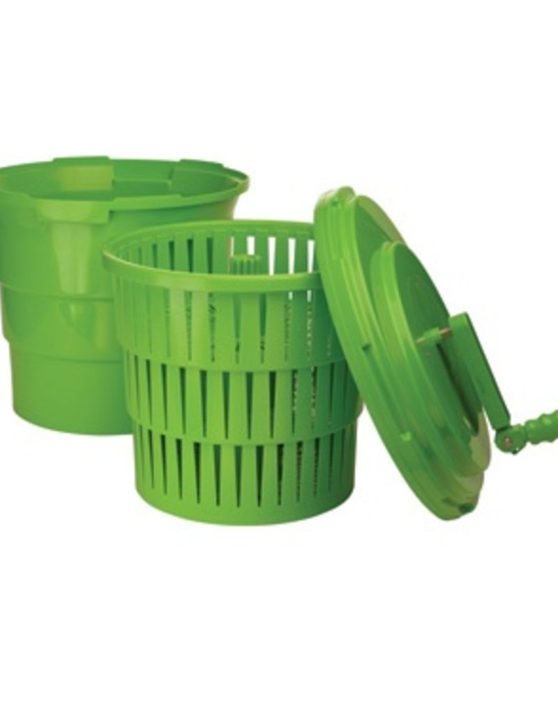 Winco Salad Spinner Dryer 5 Gallon Green