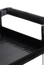 """Update Utility Cart 3 Shelves, 32"""" W x 16""""D x 37""""H, Black"""