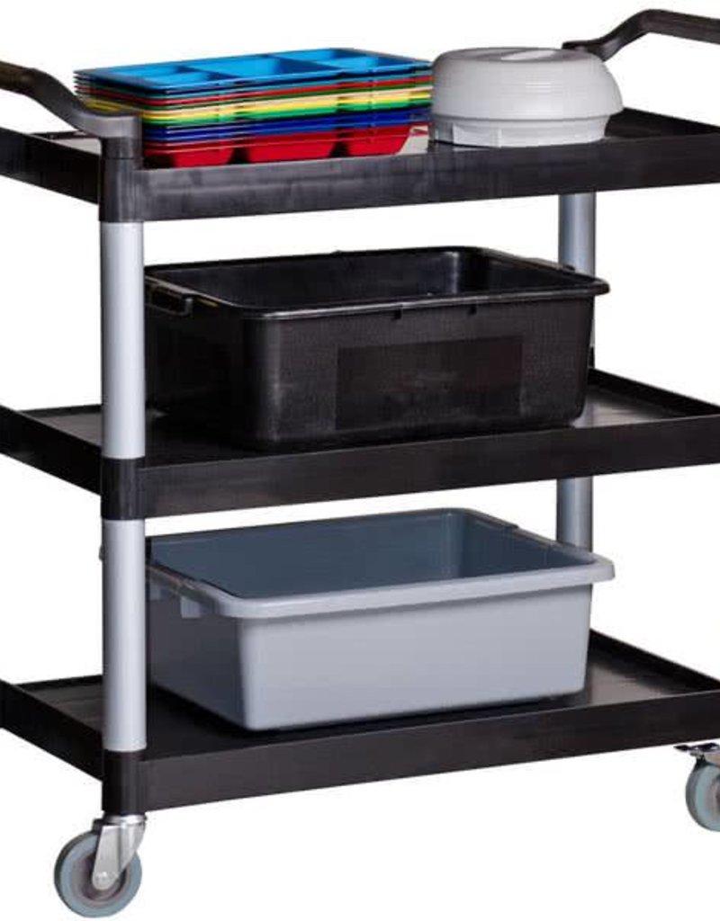 "Update Utility Cart 3 Shelves 40""L x 20""W Black"
