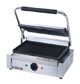 Adcraft Panini / Sandwich Grill Grooved