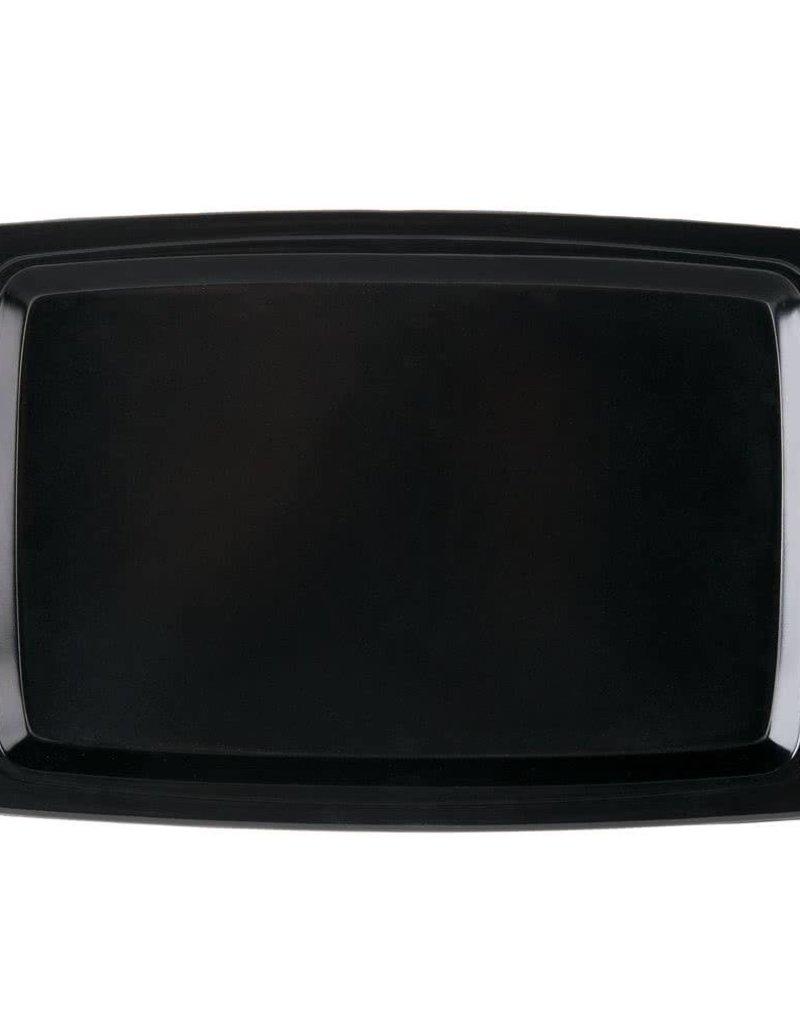 "Adcraft Sizzle Platter Underline Oblong, 13"" x 8' Black"