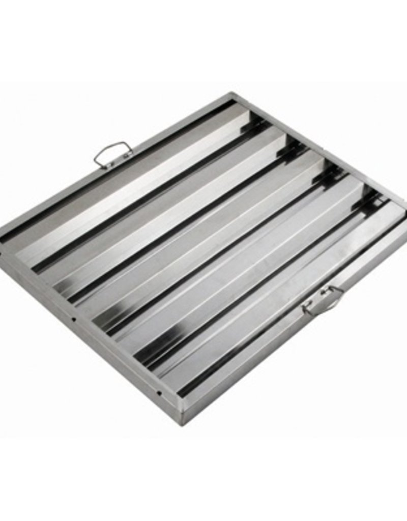 """Winco Hood Filter 25""""W x 20""""H Stainless Steel"""