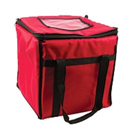 "San Jamar, Inc San Jamar FC1212-RD Insulated Food Carrier Bag 12"" x 12"" x 12"" Red"