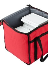 "San Jamar, Inc Insulated Food Carrier Bag 12"" x 12"" x 12"" Red"