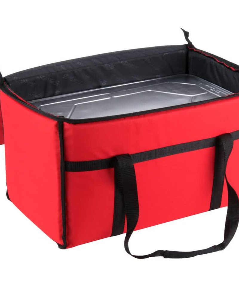 "San Jamar, Inc Insulated Food Carrier Bag 22"" x 12"" x 12"" Red"