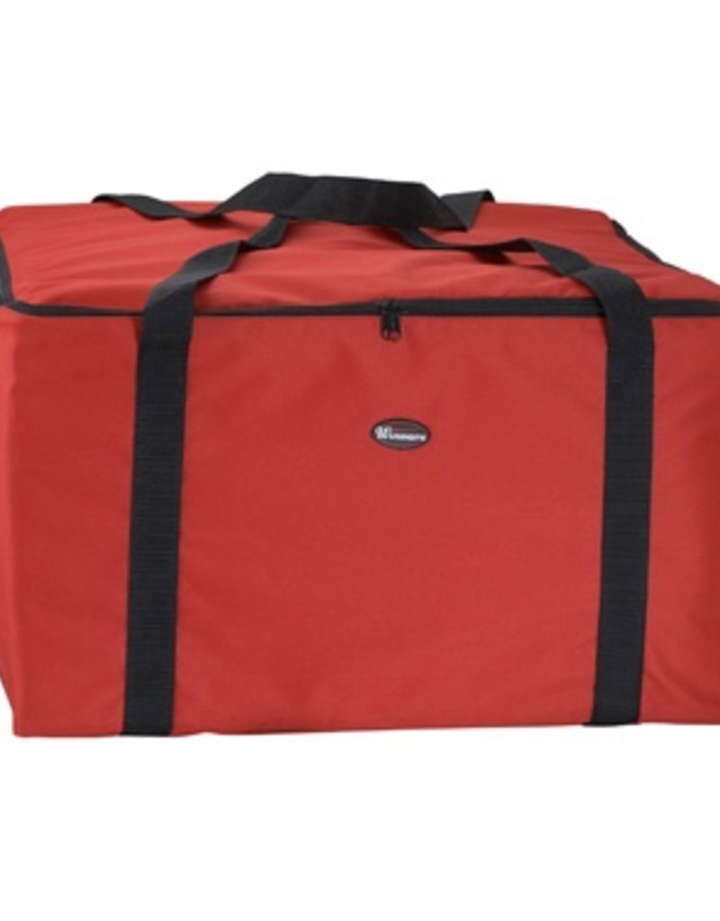 """Winco Food Carrier Insulated  Red 22"""" x 22"""" x 12""""H"""