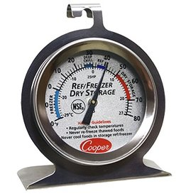 Cooper-Atkins Thermometer, Cooler/Freezer/Dry Storage -20 to 80