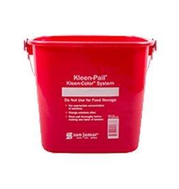 Kleen-Pail San Jamar KP97RD Kleen-Pail 3 qt, Sanitizing Red