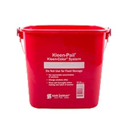 Kleen-Pail San Jamar KP256RD Kleen-Pail 8 qt, Sanitizing Red