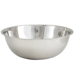"Winco Mixing Bowl, 20 quart, 18-5/8"" dia. x 5-1/2""H, stainless steel"