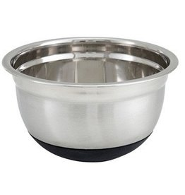 "Winco Winco MXRU-300 Mixing Bowl, 3 quart, 8-1/2"" dia. x 4-3/8""H, with black non-slip"