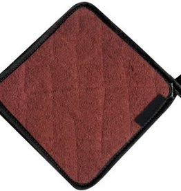 """San Jamar, Inc Pot Holder, 8"""" x 8"""", protects up to 500°F, institutional grade terry cloth, brown"""