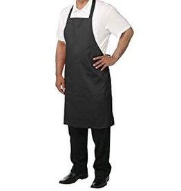 "Chef Revival Bib Apron,  28"" x 34"" no pocket, twill, black"