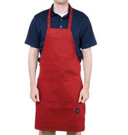 "Chef Revival Apron, full length, bid red (1) side pocket, 30"" x 34"""