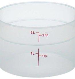Cambro Cambro RFS2PP Translucent 2 qt Round Food Container
