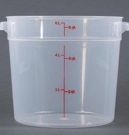 Cambro Cambro RFS6PP Translucent 6 qt Round Food Container