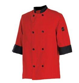 Chef Revival Chef Coat, Medium, 3/4 sleeve, tomato