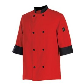Chef Revival Chef Coat, Large, 3/4 sleeve, tomato