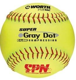 "Rawlings SPN Grey Dot 12"" - .52 COR / 275 lbs Dozen"