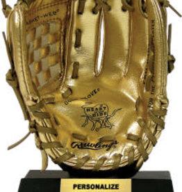 Rawlings Miniature Gold Glove Award Gold 7